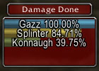 Gazz at the top of the Damage Meter